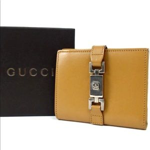 Auth Gucci Small Leather Wallet GW2780